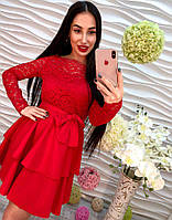 Женское платье красивого красного цвета, фото 1