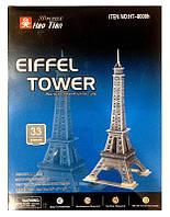 Пазлы 3D Worlds Great Architecture 33пр. 10*10*26см Эйфелева башня 8001/8008