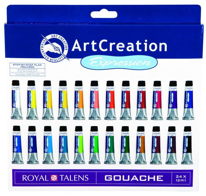 Гуашь художественная ArtCreation набор 24цв. по 12мл Royal Talens 9021624M
