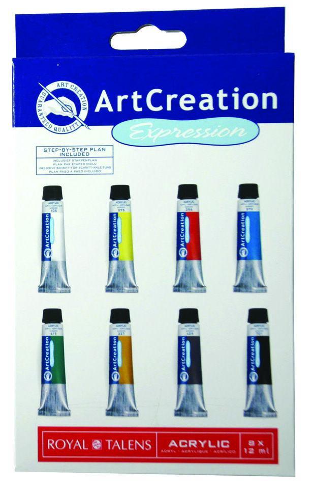 Краски акриловые ArtCreation набор 8цв. по 12мл Royal Talens 9021708M
