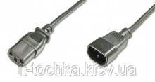 Сетевой шнур assmann ak-440205-018-s black c14/m - c13/f 1.8 метра