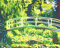 Картина раскраска по номерам на холсте 30*40см РОСА акрил Мост над прудом N0001310