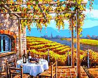 Картина раскраска по номерам на холсте 40*50см Babylon VP001 Виноградные сады