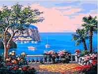 Картина раскраска по номерам на холсте 40*50см Babylon VP013 Коста-дель-Соль