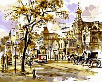 Картина раскраска по номерам на холсте 40*50см Babylon VP026 Перекресток в Киеве