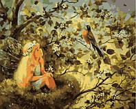 Картина раскраска по номерам на холсте 40*50см Babylon VP030 Маленькая фея