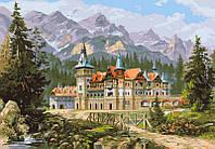 Картина раскраска по номерам на холсте 40*50см Babylon VP149 Замок Спящей красавицы