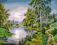 Картина раскраска по номерам на холсте 40*50см Babylon VP176 У озера