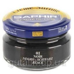 Увлажняющий крем для обуви Saphir Creme Surfine цвет черный (01) 50 мл