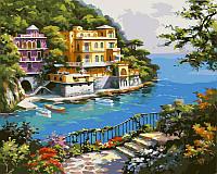 Картина раскраска по номерам на холсте 40*50см Babylon VP212 Нарисованный рай