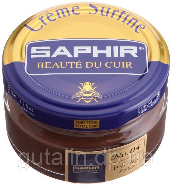 Увлажняющий крем для обуви Saphir Creme Surfine цвет коричневый (04) 50 мл