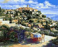 Картина раскраска по номерам на холсте 40*50см Babylon VP248 Панорама Сен-Поль-де-Вансе Франция