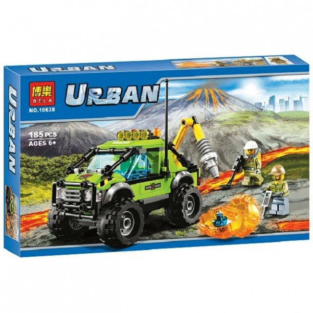 Конструктор Bela 10638 Urban Грузовик исследователей вулканов 185 дет