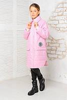 Стильная куртка удлинённая деми для девочки подростка, фото 1
