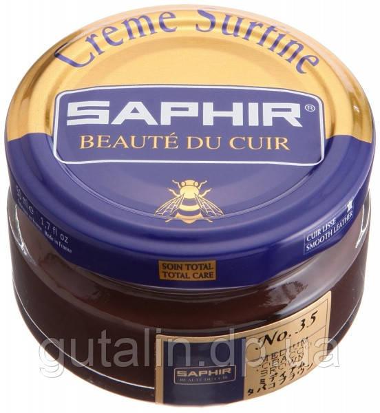 Увлажняющий крем для обуви Saphir Creme Surfine средний табак (35) 50 мл