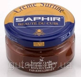 Увлажняющий крем для обуви Saphir Creme Surfine светлый табак (36) 50 мл