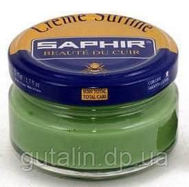 Увлажняющий крем для обуви Saphir Creme Surfine зелёная трава (49) 50 мл