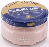 Увлажняющий крем для обуви Saphir Creme Surfine пастельно розовый (91) 50 мл
