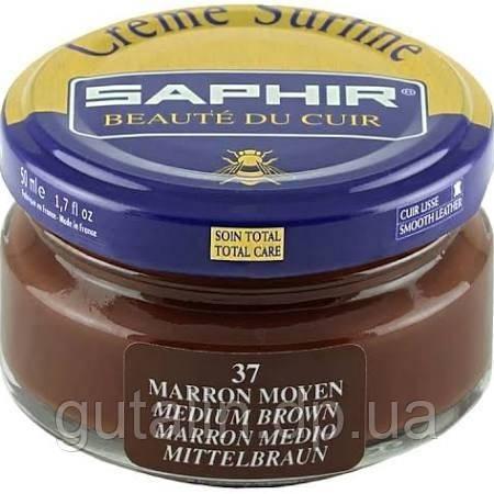 Зволожуючий крем для взуття Saphir Creme Surfine середньо-коричневий (37) 50 мл