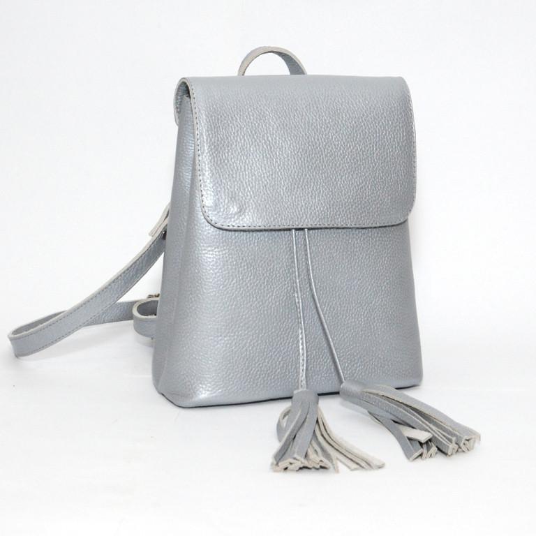 d5a566410015 Рюкзак кожаный модель 03 серебристый флотар - купить по лучшей цене ...