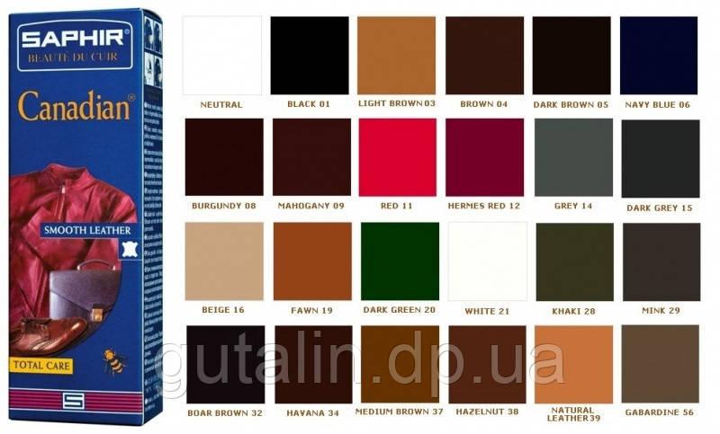 Крем-краска с защитными свойствами Saphir Canadian 75 мл цвет вишневый (89)