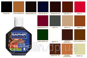 Крем - краска для гладкой кожи Saphir Juvacuir 75 мл цвет темно-зеленый (20)