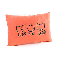 Подушка для влюбленных «Три котика»  флок