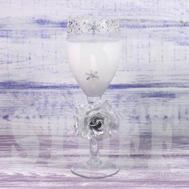 свеча на свадьбу в бокале