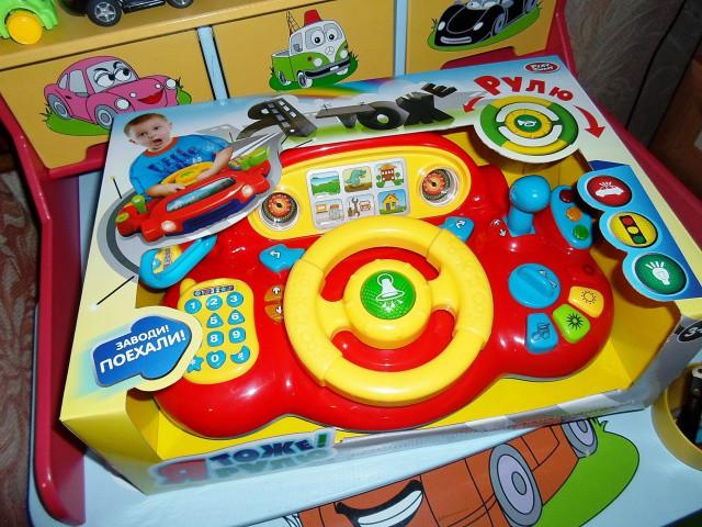Автотренажер для малышей Я тоже рулю 7318 музыка, свет, светофор