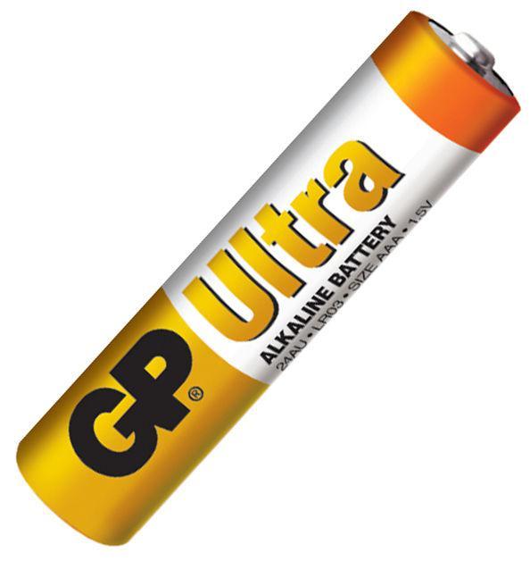 Батарейка ААА (минипальчиковая) GP 1шт 24AUEBCHM-2S2 щелочная LR03, AAA