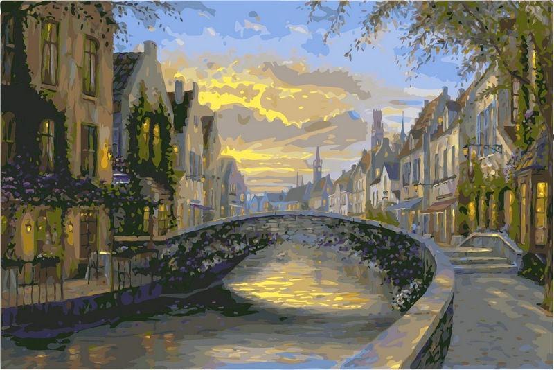 Картина раскраска по номерам на холсте 40*50см Babylon VP047 Отражение Бельгии