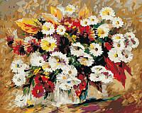 Картина раскраска по номерам на холсте 40*50см Babylon VP053 Изумительные цветы