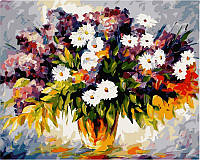 Картина раскраска по номерам на холсте 40*50см Babylon VP064 Букет полевых цветов и ветка сирени