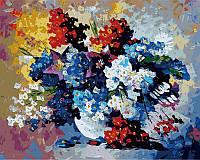 Картина раскраска по номерам на холсте 40*50см Babylon VP055 Букет весенних цветов