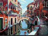 Картина раскраска по номерам на холсте 40*50см Babylon VP264 Полдень в Венеции