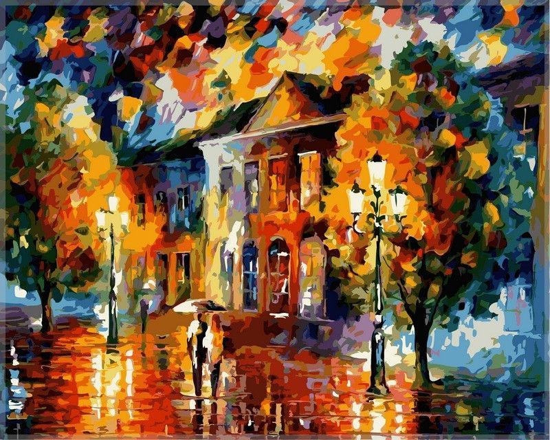 Картина раскраска по номерам на холсте 40*50см Babylon VP364 Краски осени