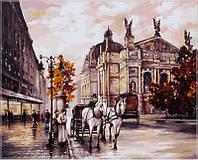 Картина раскраска по номерам на холсте 40*50см Babylon VP371 Львов Оперный театр