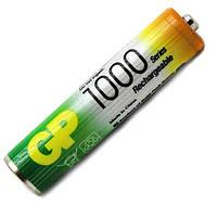 Аккумуляторная батарейка ААА (минипальчиковая) GP 1шт R03 1000mA 100AAAHC-UC2