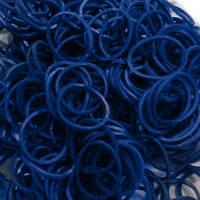 Резинки для плетения Rainbow Loom Bands 300шт. однотонные Синие 1906/A-s111 +крючок