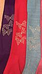 Колготки детские бантики с стразами и бусинками, фото 3