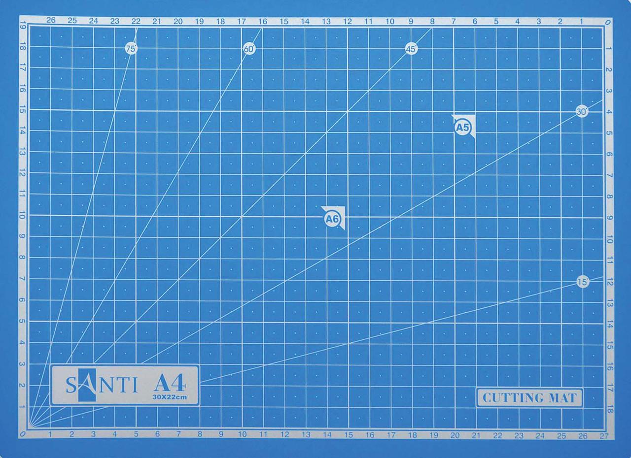 Коврик для резки самовосстанавливающийся Santi 300*220*3мм под А4 952425