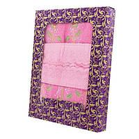 Розовый набор банное кухонное и для лица