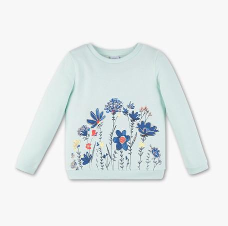 Бирюзовая кофта с цветами для девочки C&A Германия Размер 134