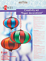 Набор для творчества Santi 951924 Бумажные фонарики 6шт