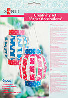Набор для творчества Santi 951920 Бумажные фонарики 6шт