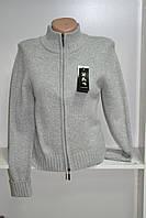 Женский свитер на молнии с длинным рукавом шерсть, фото 1
