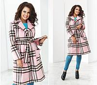 Кашемировое женское пальто в клетку 881174