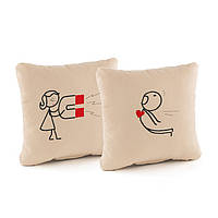 Набор подушек для влюбленных «Магнит» флок