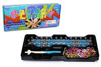 Набор для плетения резинками Rainbow Loom Bands 600шт. + разборной усиленный станок, аксессуары