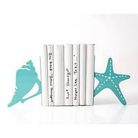 Держатели для книг Морская ракушка и звезда